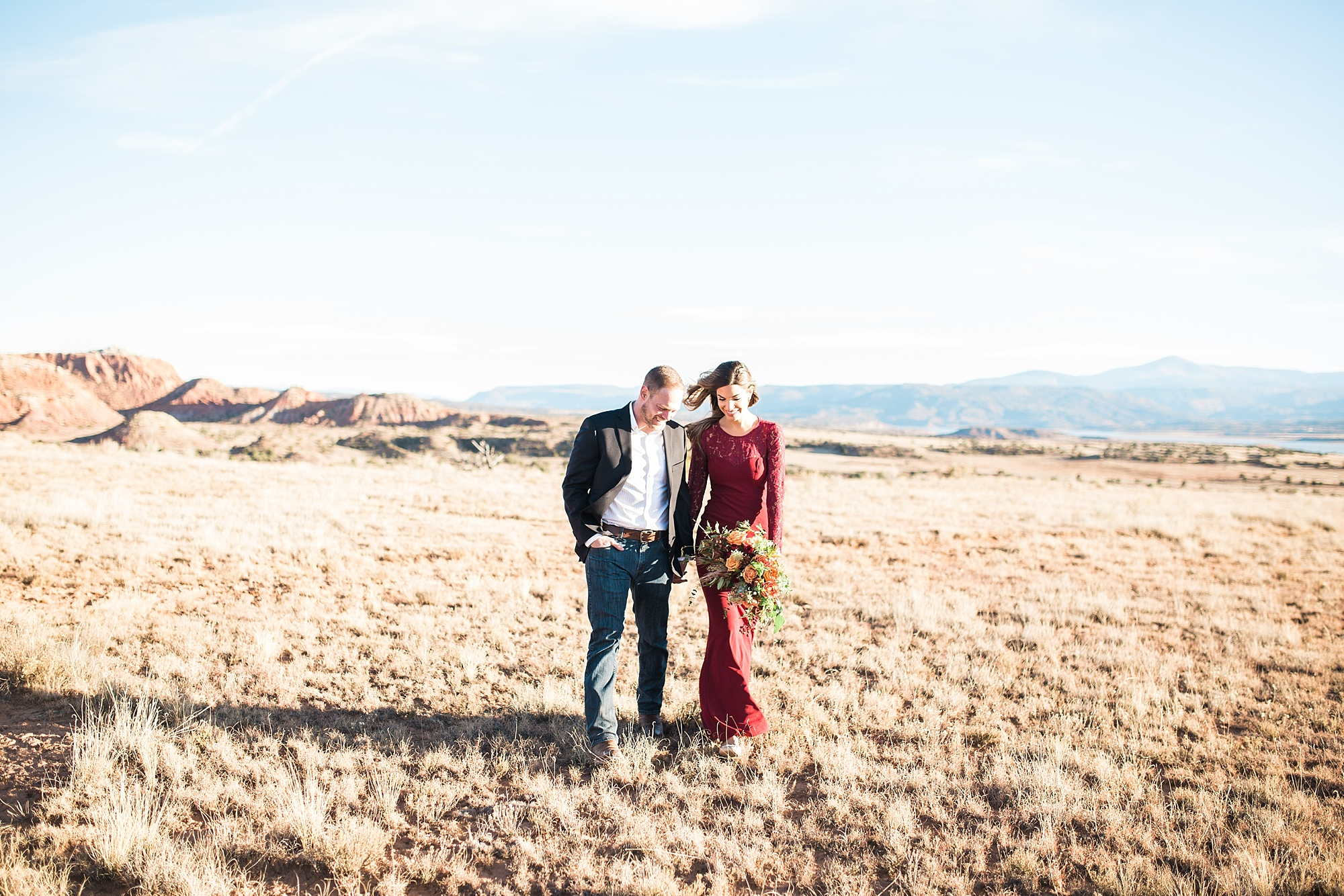 Anna and Nick's Ghost Ranch Engagement Session in Abiquiu
