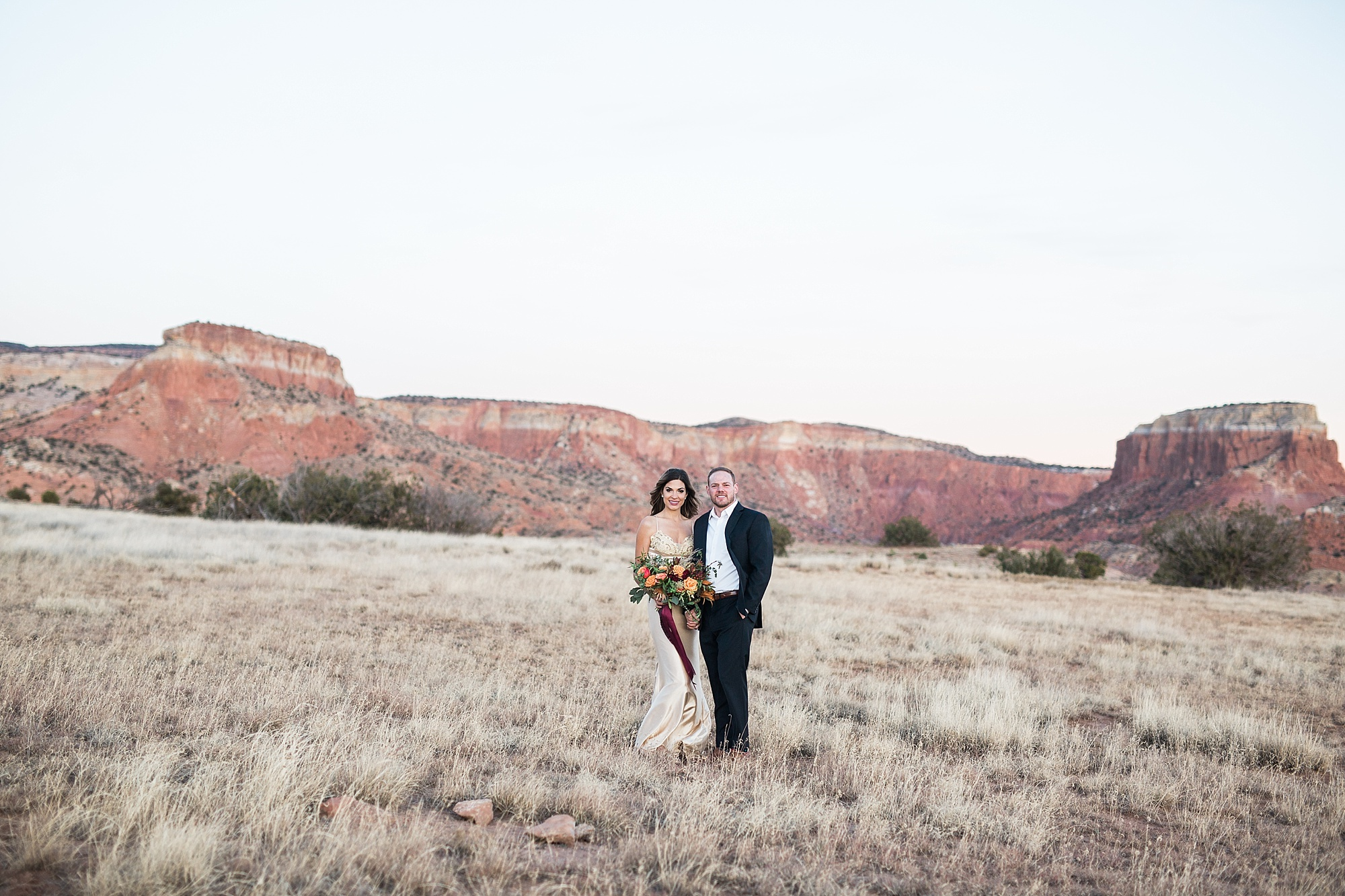 Anna and Nick's Ghost Ranch Engagement Session in Abiquiu New Mexico